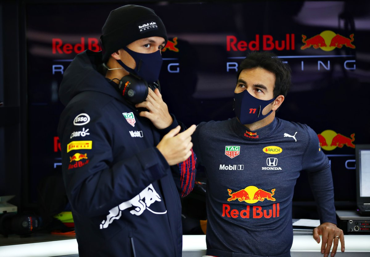 Sergio Perez, Red Bull Racing, Alexander Albon, Red Bull Racing