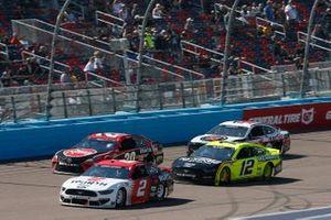 Brad Keselowski, Team Penske, Ford Mustang Wurth, Christopher Bell, Joe Gibbs Racing, Toyota Camry Rheem