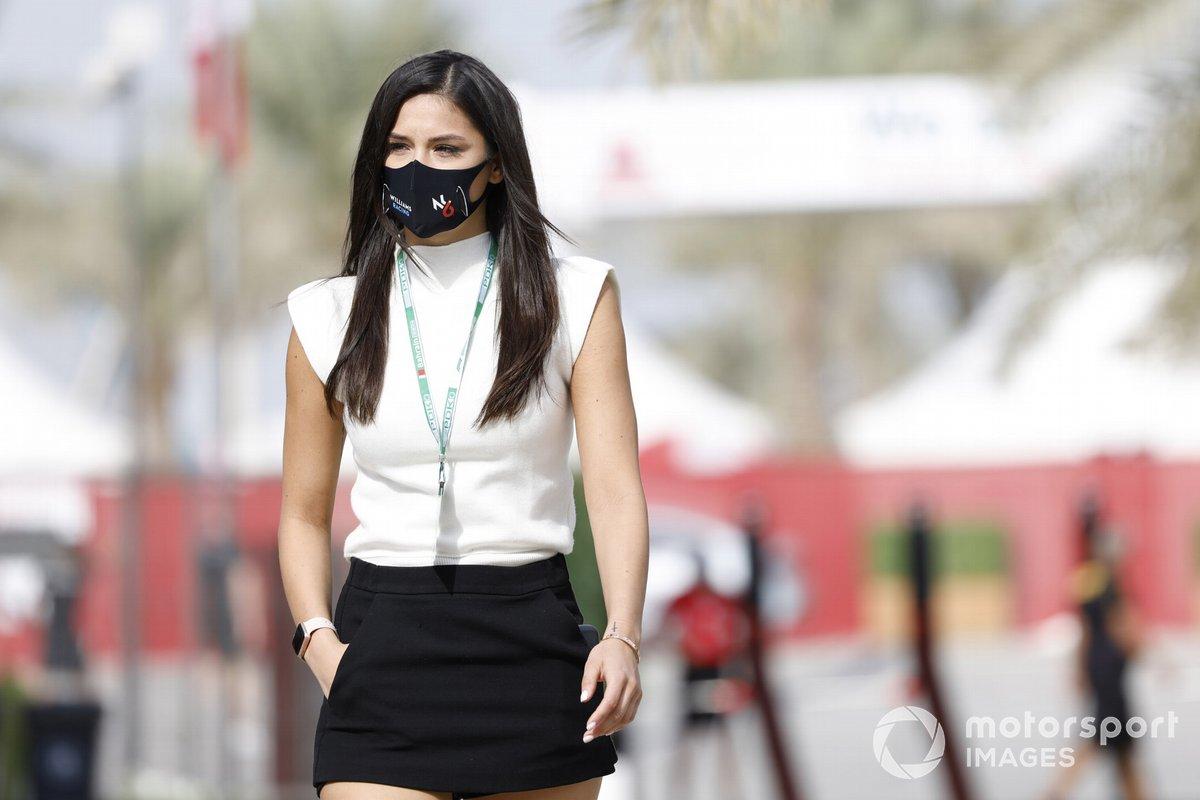 Sandra Dziwiszek, novia de Nicholas Latifi, Williams Racing