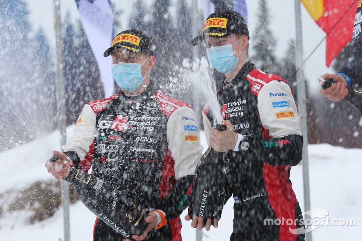 Podio: Kalle Rovanperä, Jonne Halttunen, Toyota Gazoo Racing WRT Toyota Yaris WRC
