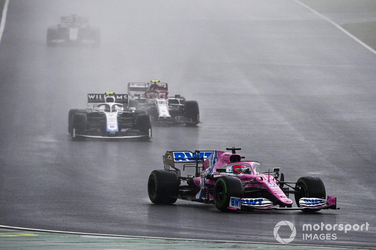 Sergio Pérez, Racing Point RP20, Nicholas Latifi, Williams FW43, Antonio Giovinazzi, Alfa Romeo Racing C39