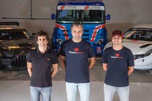 Sérgio Jimenez, Carlos Chiarelli e Nelsinho Piquet