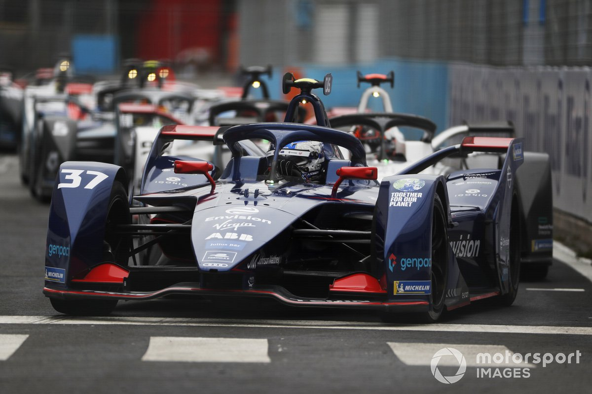 Nick Cassidy, Envision Virgin Racing, Audi e-tron FE07, en la salida