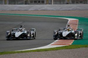 Nyck de Vries, Mercedes Benz EQ, EQ Silver Arrow 02 side by side with Stoffel Vandoorne, Mercedes-Benz EQ, EQ Silver Arrow 02