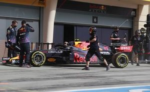 Sergio Perez, Red Bull Racing RB16B, in the pit lane