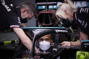 Sir Lewis Hamilton, Mercedes, in his cockpit