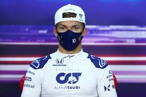 Pierre Gasly, AlphaTauri, in the press conference