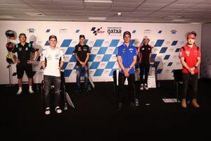 Pol Espargaro, Joan Mir, Jack Miller, und Valentino Rossi, Fabio Quartararo, Aleix Espargaro