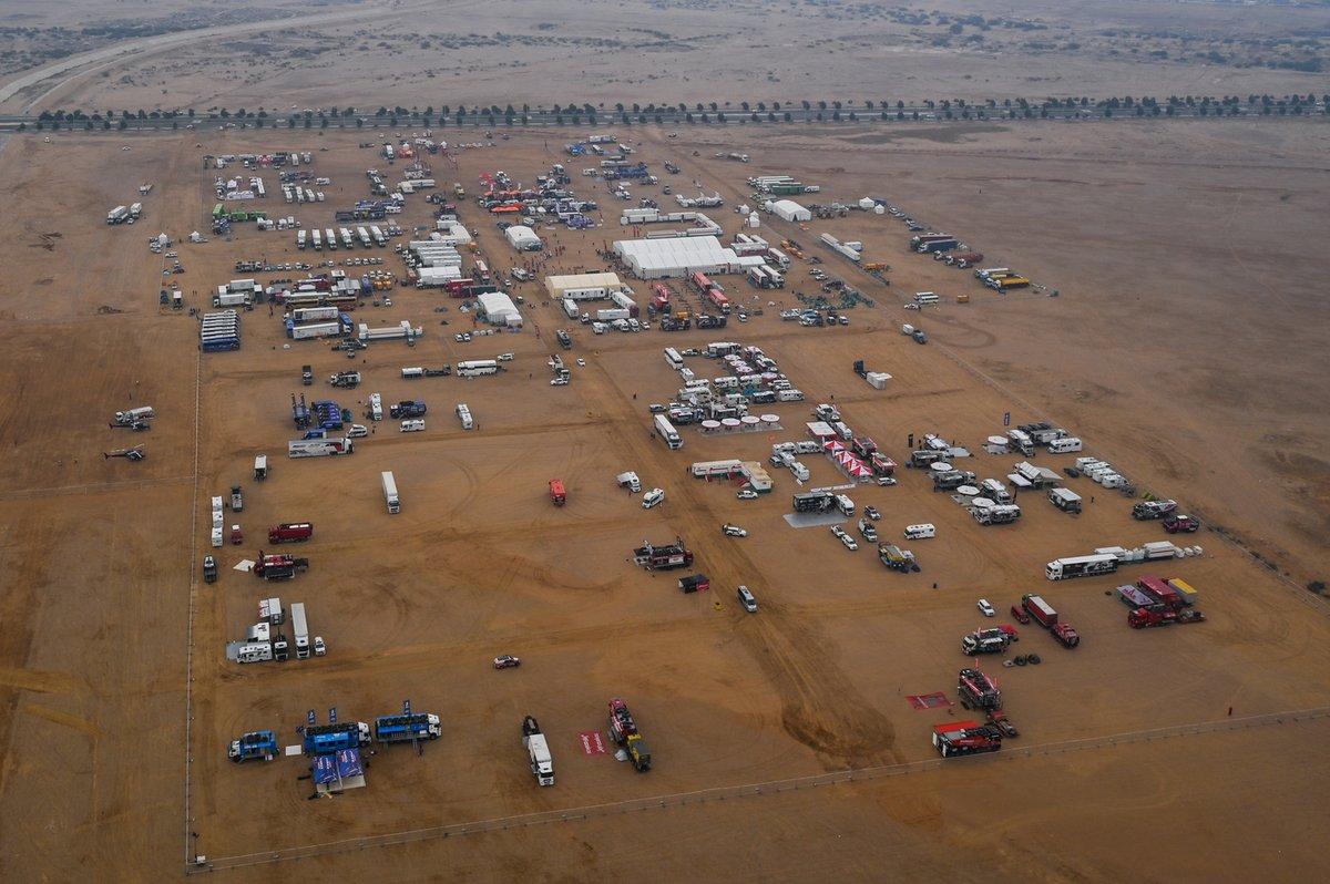 Vivac del Dakar 2021 en Yanbu
