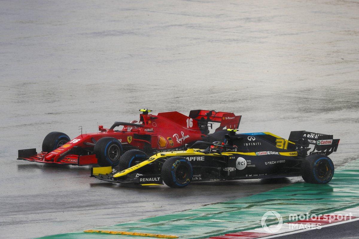 Charles Leclerc, Ferrari SF1000, Esteban Ocon, Renault F1 Team R.S.20