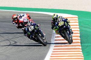 Maverick Vinales, Yamaha Factory Racing, Valentino Rossi, Yamaha Factory Racing, Francesco Bagnaia, Pramac Racing