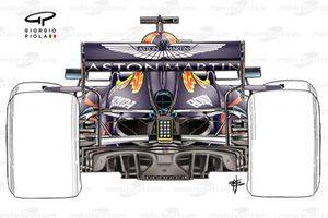 Red Bull Racing RB16 exhaust detail