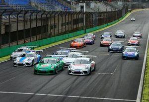 Largada da Porsche Cup em Interlagos