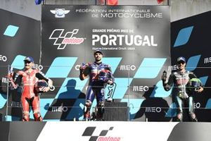 Podium: race winner , Miguel Oliveira, Red Bull KTM Tech 3, second place Jack Miller, Pramac Racing, third place Franco Morbidelli, Petronas Yamaha SRT