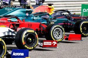 Pirelli tyres on the Ferrari SF21