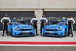 Yann Ehrlacher, Yvan Muller, Thed Bjork, Santiago Urrutia, Cyan Racing, Lynk & Co 03 TCR