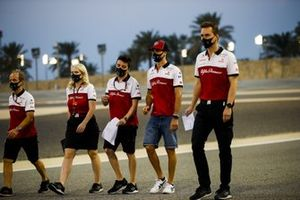 Antonio Giovinazzi, Alfa Romeo tijdens de track walk