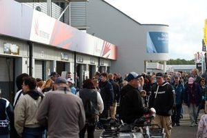 Fans behind the garages