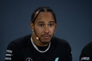 Lewis Hamilton, Mercedes AMG F1 en la rueda de prensa