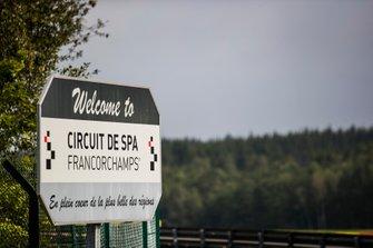 Welkomstbord Spa-Francorchamps