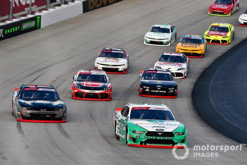 Austin Cindric, Team Penske, Ford Mustang MoneyLion and Tyler Reddick, Richard Childress Racing, Chevrolet Camaro Freightliner