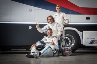 Erik Johansson, Alex Zanardi e Stefano Comandini, BMW Team Italia