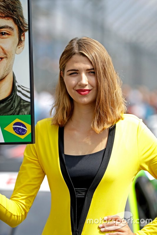 Grid girl of Pietro Fittipaldi, Audi Sport Team WRT