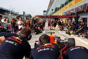 El Red Bull Racing se prepara para el pit stop