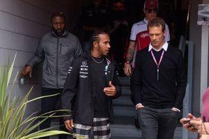 Lewis Hamilton, Mercedes AMG F1 and Alex Wurz