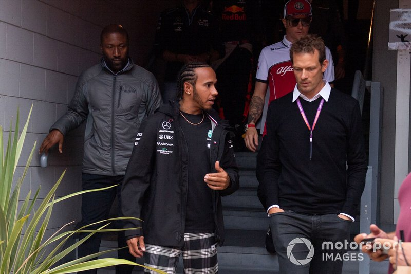 Lewis Hamilton, Mercedes AMG F1 and Alex Wurz