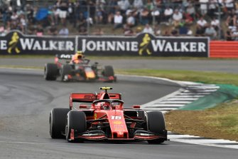 Charles Leclerc, Ferrari SF90, leads Pierre Gasly, Red Bull Racing RB15