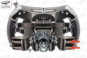 El volante del Mercedes AMG F1 W08 de Lewis Hamilton