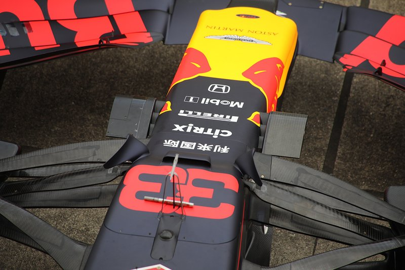 Detalle delantero del Red Bull Racing RB15