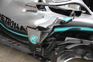 Detalle de los pontones del Mercedes F1 AMG W10