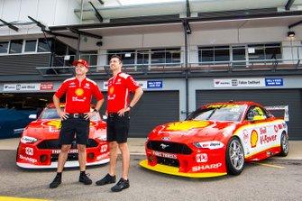 Scott McLaughlin, DJR Team Penske Ford, Fabian Coulthard, DJR Team Penske Ford