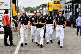 Mercedes AMG F1 mechanics in the paddock