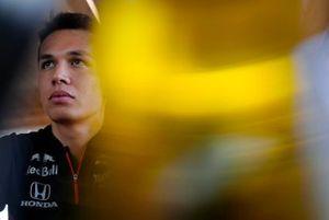 Alexander Albon, Toro Rosso speaks to the media
