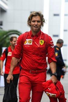 Antti Kontsas, Trainer van Sebastian Vettel, Ferrari