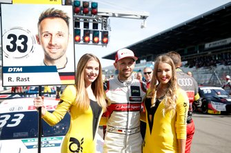 René Rast, Audi Sport Team Rosberg with Grid girls