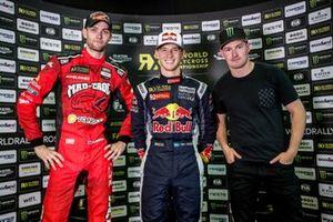 Podio: Ganador Timmy Hansen, Team Hansen MJP, segundo lugar Niclas Grönholm, GRX Taneco, tercer lugar Andreas Bakkerud, Monster Energy RX Cartel