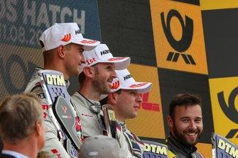 Podio: Il vincitore della gara René Rast, Audi Sport Team Rosberg, secondo classificato Nico Müller, Audi Sport Team Abt Sportsline, terzo classificato Robin Frijns, Audi Sport Team Abt Sportsline