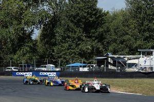 Josef Newgarden, Team Penske Chevrolet, Ryan Hunter-Reay, Andretti Autosport Honda, Alexander Rossi, Andretti Autosport Honda