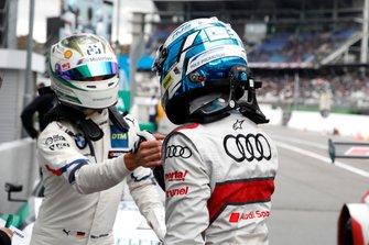 Polesitter René Rast, Audi Sport Team Rosberg, 2. Marco Wittmann, BMW Team RMG