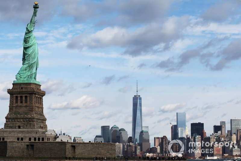 Statue of Liberty over New York
