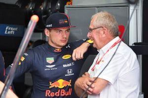 Max Verstappen, Red Bull Racing, with Helmut Markko, Consultant, Red Bull Racing