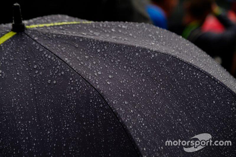 Hujan turun di Spa