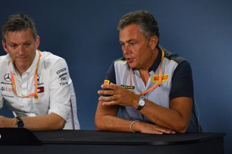 Mario Isola, Racing Manager, Pirelli Motorsport, and James Allison, Technical Director, Mercedes AMG
