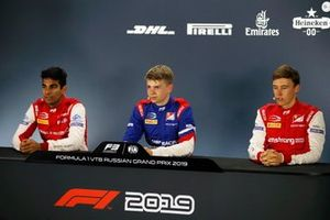 Jehan Daruvala, PREMA Racing, Robert Shwartzman, PREMA Racing and Marcus Armstrong (NZL PREMA Racing, in the press conference