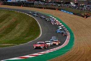 Start actie, Loic Duval, Audi Sport Team Phoenix, Audi RS 5 DTM aan de leiding