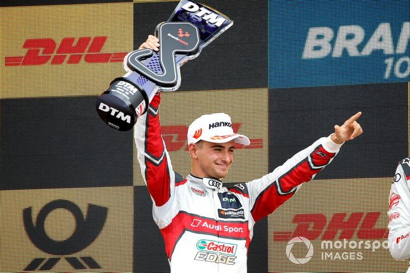 Podium: tweede plaats Nico Müller, Audi Sport Team Abt Sportsline